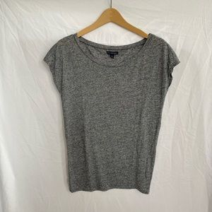 American Eagle Marl Gray Off Shoulder T-Shirt Top